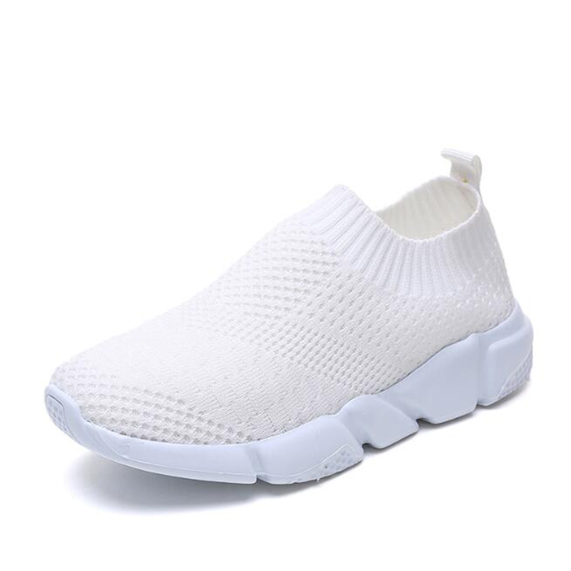 Outdoor Fashion Casual Shoes Mesh Breathable Sneakers Simple And Comfortable Single Shoes Flat Round Head Women's Shoes C371