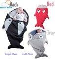Precioso alta calidad comforttable suave Lindo Tiburón de la Historieta Del Bebé los niños Saco de Dormir Saco de dormir de Invierno niño Manta Swaddle Cálido
