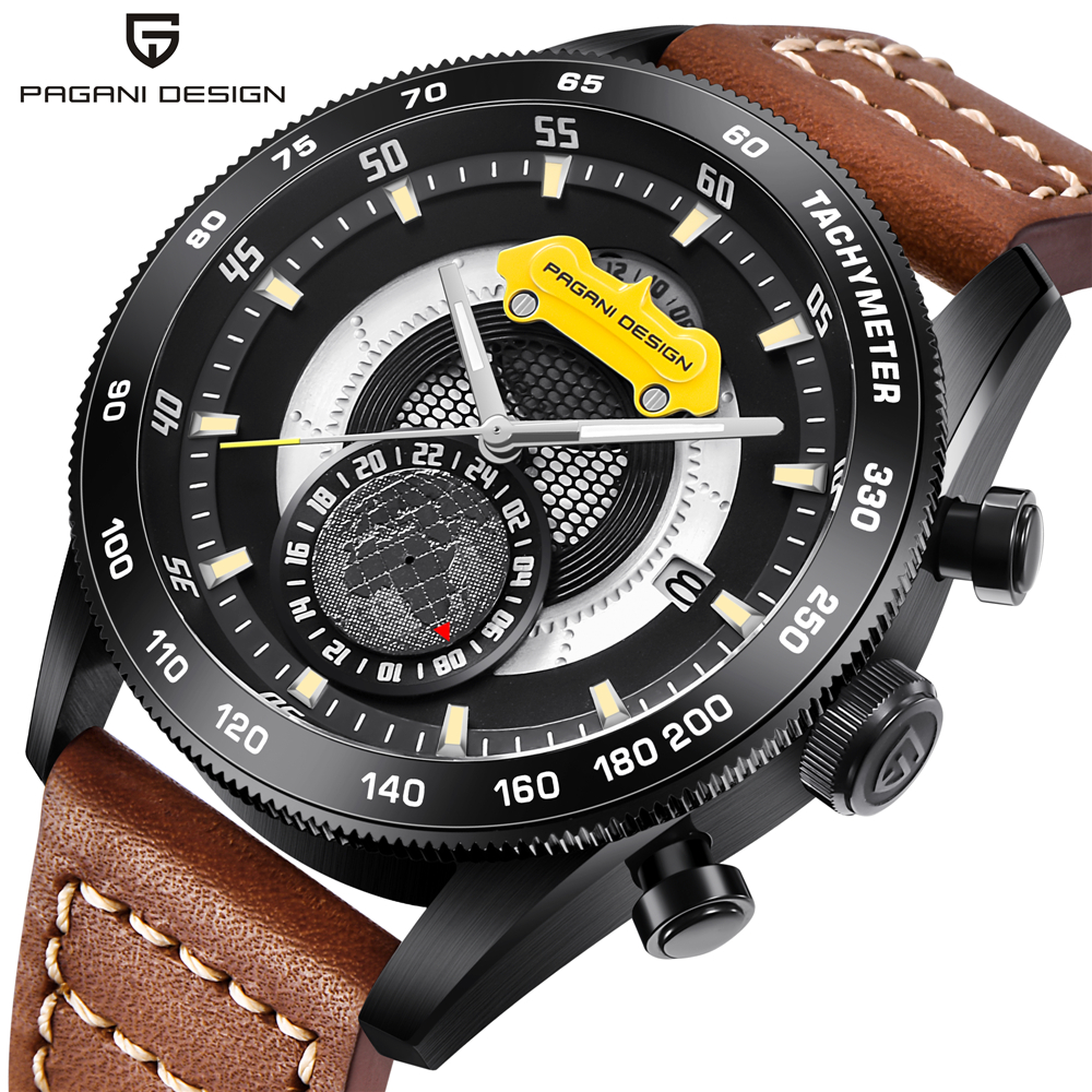 PAGANI DESIGN Watches Mens Luxury Brand Watch Men Chronograph Waterproof Men's Clock relogio masculino pagani design mens watches top brand luxury male waterproof sport chronograph military wrist watch men clock relogio masculino