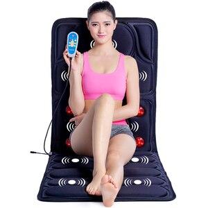 Image 1 - Almohadilla de masaje con calefacción por vibración, masaje Cervical para cuello, acupresión, colchón de infrarrojos lejano, 110 240V