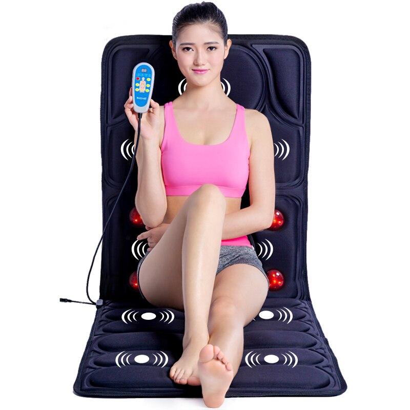 Vibration heating Massage Cushion cervical neck massage Acupressure cushion Far Infrared mattress massage mat 110 240V-in Massage & Relaxation from Beauty & Health