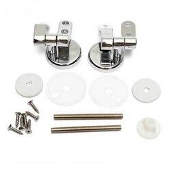 Wymiana stopu deska klozetowa zawiasy zestaw montażowy Chrome ze śrubami mocującymi akcesoria toaletowe