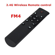 Black 12 Keys Controle Remoto FM4 2.4GHz usb Wireless Keyboard Remote Controller USB Wireless Receiver Mouse For Android TV BOX