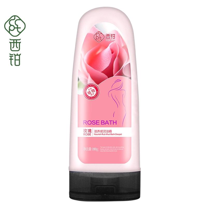 280g Waschen Schatz Sauber Rose Extract Peeling Reiben Schlamm Bad Salz Peeling Bad Körper Waschen Knitterfestigkeit Schönheit & Gesundheit