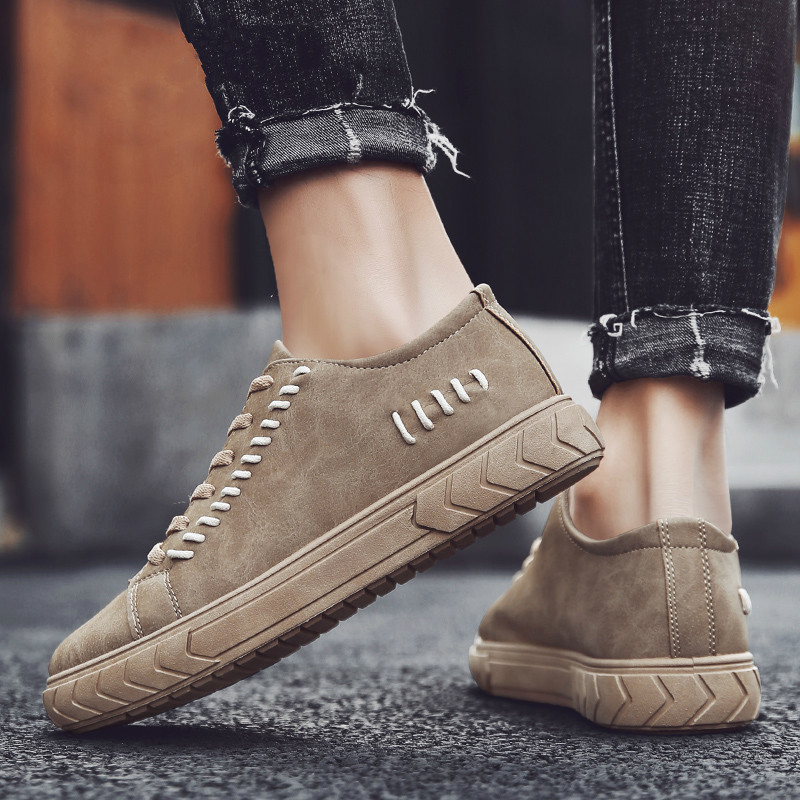 2019 Vintage Tide Shoes Male Shoes Adult Chaussure Homme Superstar Shoes Moccasins Mens Sneakers for Men Platform B4-10 image