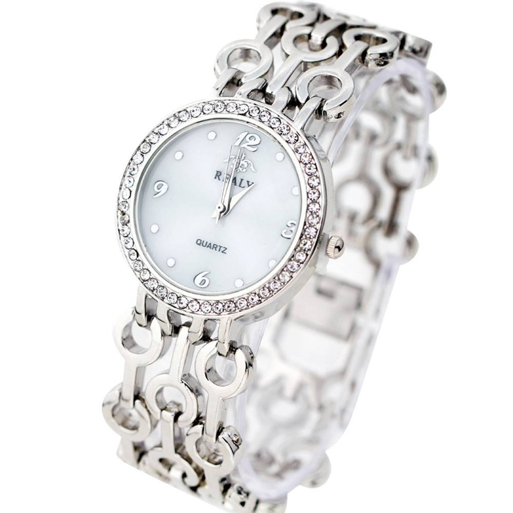 Fashion Strap Watch Bracelet Watch Round Dial Bracelet Table Women Ladies Watches Relogio Feminino Steel H5