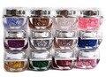 12 colores/set Brillante Lentejuelas Uñas de Gel de Uñas de Acrílico Arte UV Gel Glitter