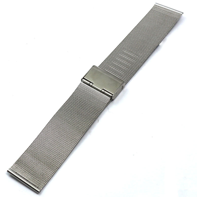 New Arrival 22mm Silver Watch Strap Bracelet Stainless Steel Band Hook Buckle 2 Spring Bars GD014222 22mm silver golden color butterfly buckle wrist quartz watch stainless steel band strap bracelet 2 spring bars gd013222