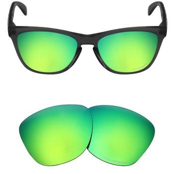 bd70076576 Mryok + polarizadas resistir mar reemplazo Objetivos para Oakley FROGSKINS  Gafas de sol verde esmeralda