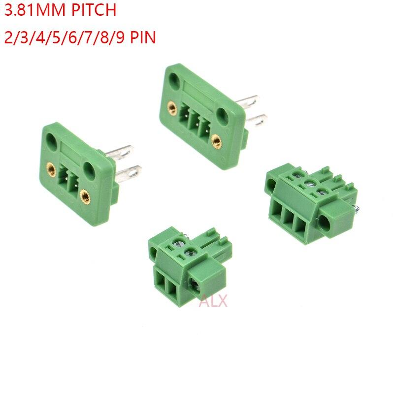 20pcs 5.08mm Pitch 2Pin Plug-in Screw PCB Terminal Block Connector  H5