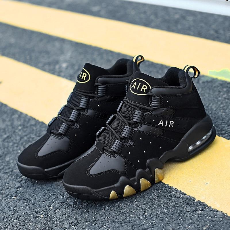 Basketball Shoes Men High-top Sports Air Cushion Jordan Retro Basketball Athletic Mens Shoes Comfortable Breathable Sneakers
