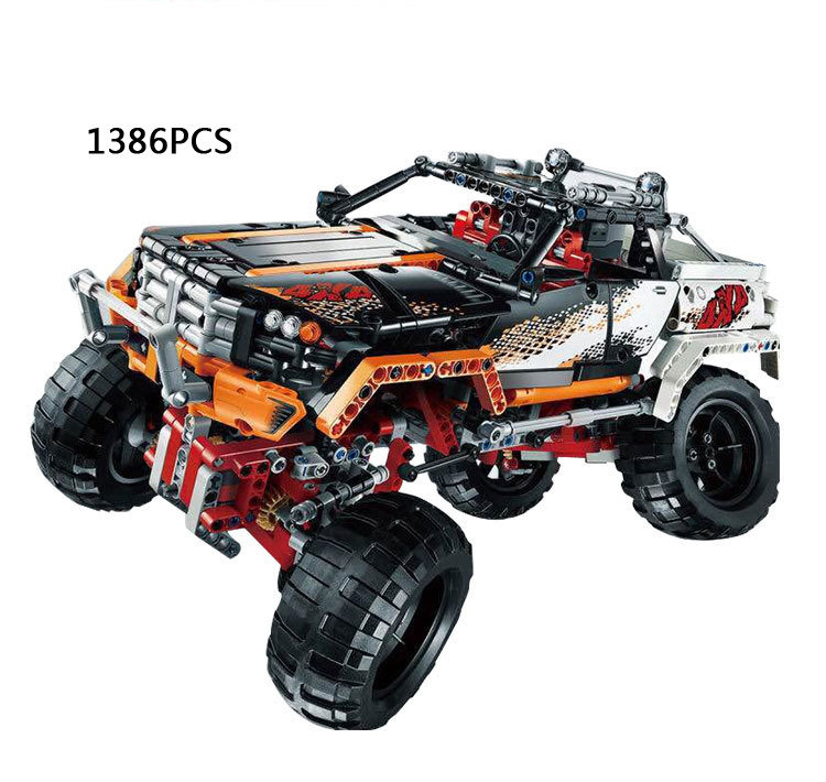 2017 Hot Classic Technics 1386 Pcs Remote Control 4X4 Crawler 2in1 Truck Building Block Compatible 9398 Rc Toys Gift Toy for Kid цена и фото