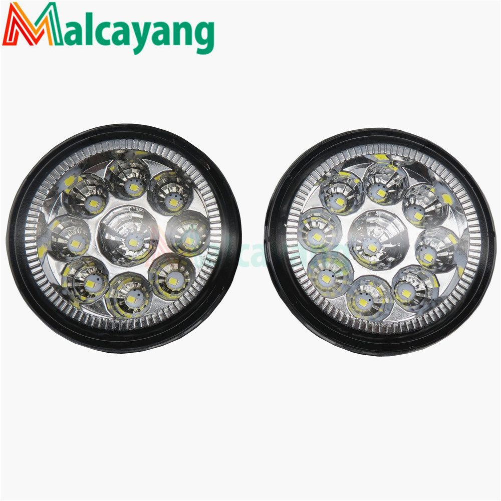 1 SET (Left + right) Car Styling Front LED Fog Lamps Fog Lights 26150-8990B For NISSAN Tiida Saloon SC11X 2006-2012 2 pcs set car styling front bumper light fog lamps for toyota venza 2009 10 11 12 13 14 81210 06052 left right