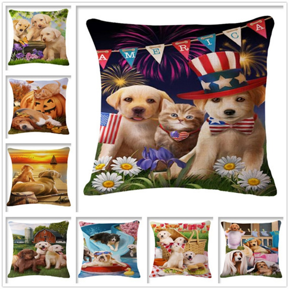 Thermal Usa Textile Basset Hound Fairy Tale Sofa Car Decorative Pillow  45Cmx45Cm Square Sofa Home Car Decorativ Outdoor Pillows