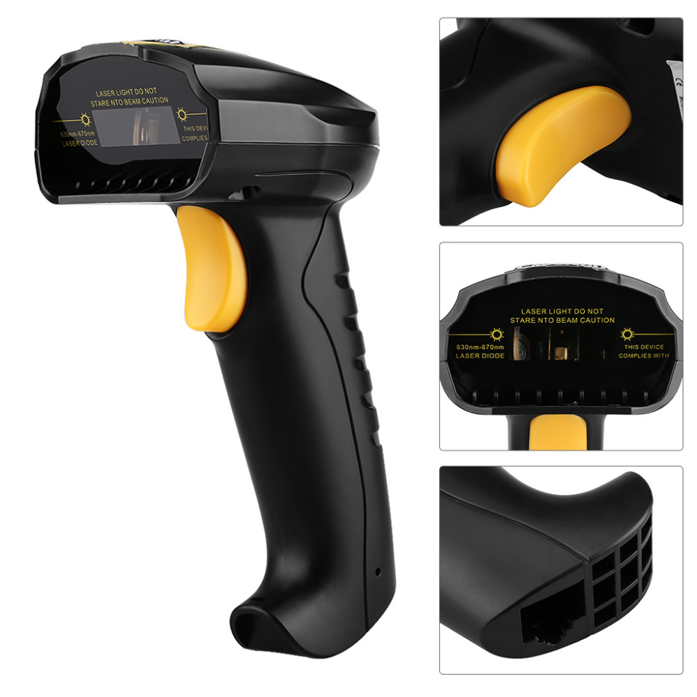 Manorshi Bluetooth Barcode Scanner Handheld Wireless 1D Bar Code Reader