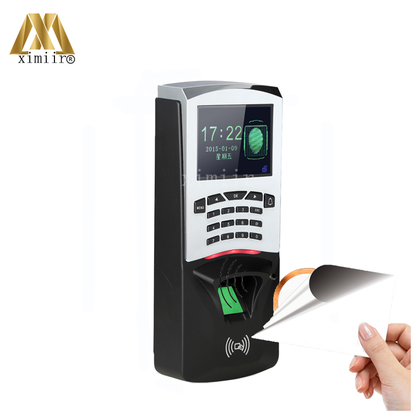Free Shipping Fingerprint And 13.56MHZ MF Card Access Control Biometric Fingerprint Time Attendance IC Card Access Controller door security fingerprint access control reader biometric fingerprint time attendance and access controller