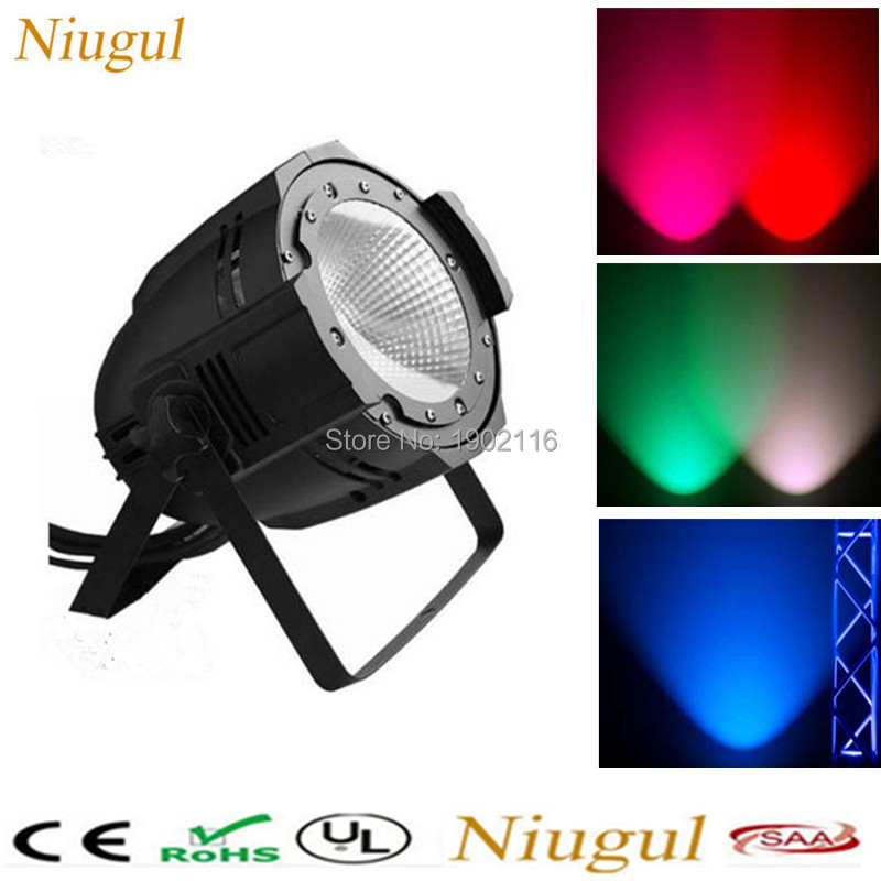 Niugul RGBW Aluminium 100W COB Led Par Light for Club Stage Party bar LED Audience lights DMX512 background stage effect light