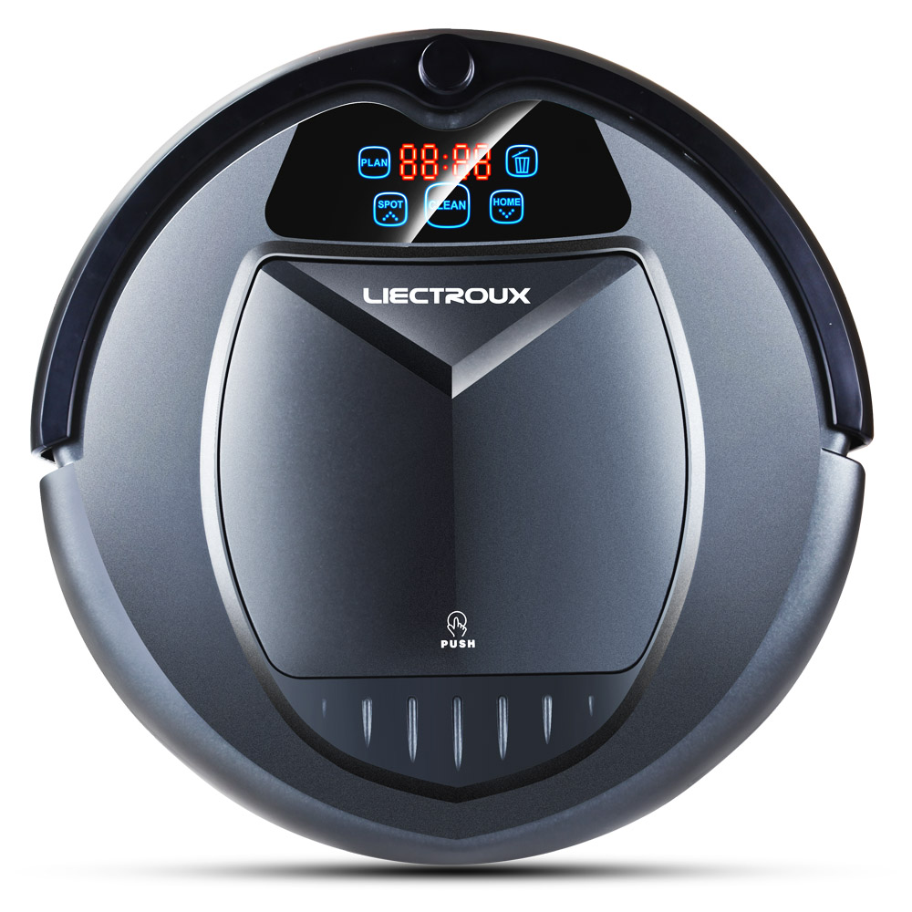 Used LIECTROUX B3000 Vacuum Cleaning Robot With LED Touch Screen Good Suction Power Designed For Pet Hair And Hard Floor