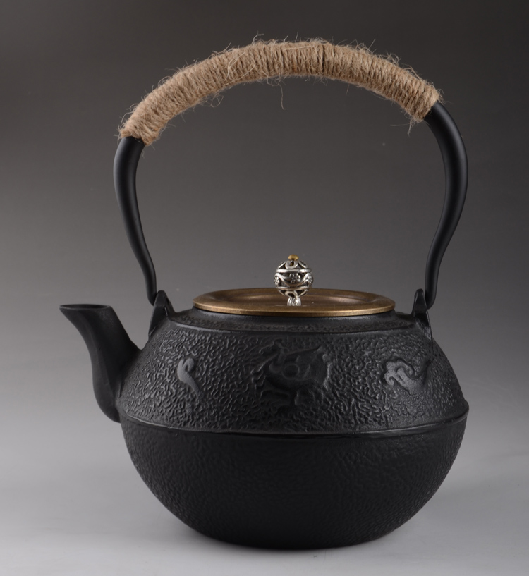 Cast Iron Teapot Set Japanese Tea Pot 1200ml Tetsubin