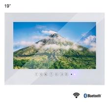 Souria 19 Magic Smart Android Vanishing Mirror IP66 Bathroom TV USB LED Waterproof with Mounts Hotel Sauna Room