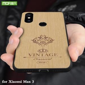Image 1 - Coque arrière MOFi pour Xiaomi Mi Max 3 Pro Coque rigide pour Mi Max3 Coque en cuir pour boîtier de luxe Xiomi Max