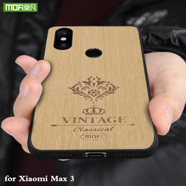 Coque arrière MOFi pour Xiaomi Mi Max 3 Pro Coque rigide pour Mi Max3 Coque en cuir pour boîtier de luxe Xiomi Max