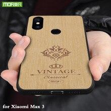 Mofi 원래 다시 케이스 xiao mi mi max 3 pro 하드 pc 커버 mi max3 pu 가죽 coque for xio mi max 럭셔리 하우징