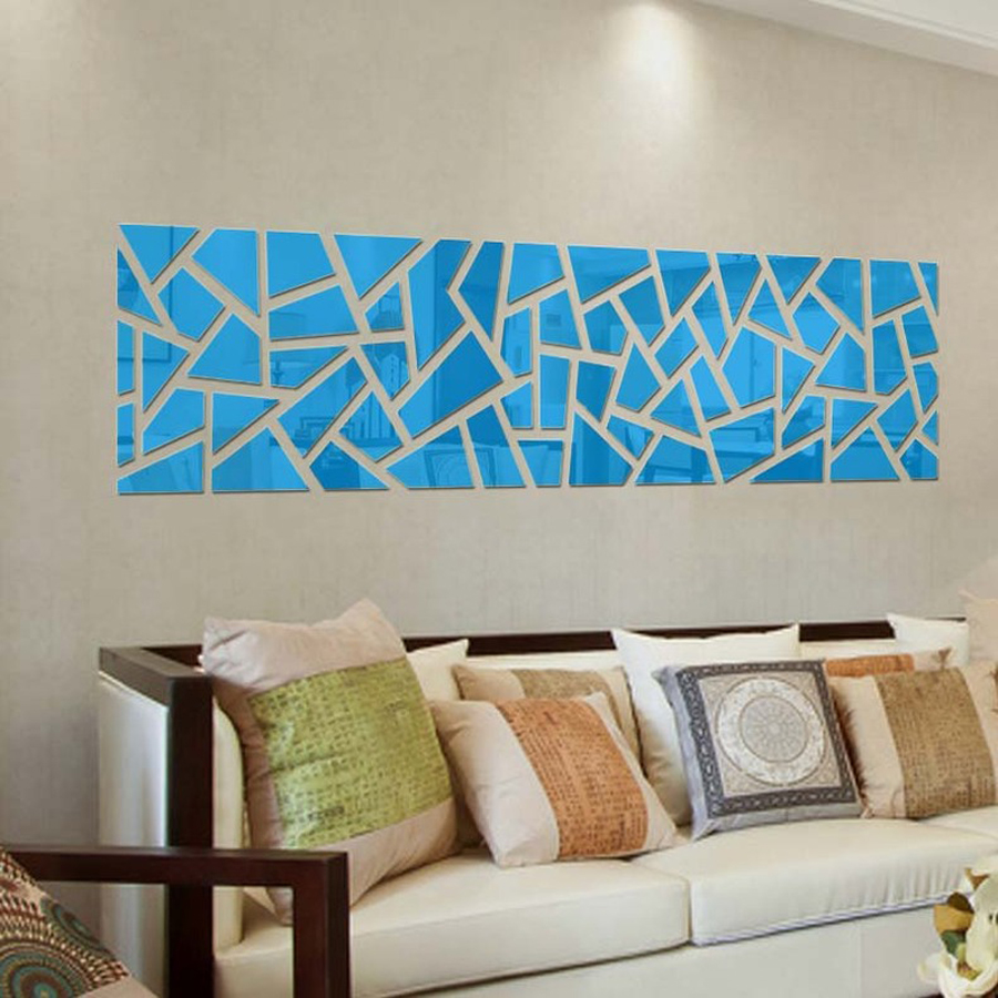 New custom size acrylic sticker home decoration wall art diy 3d new custom size acrylic sticker home decoration wall art diy 3d mirror wall stickers geometric pattern living room decoration in wall stickers from home amipublicfo Image collections