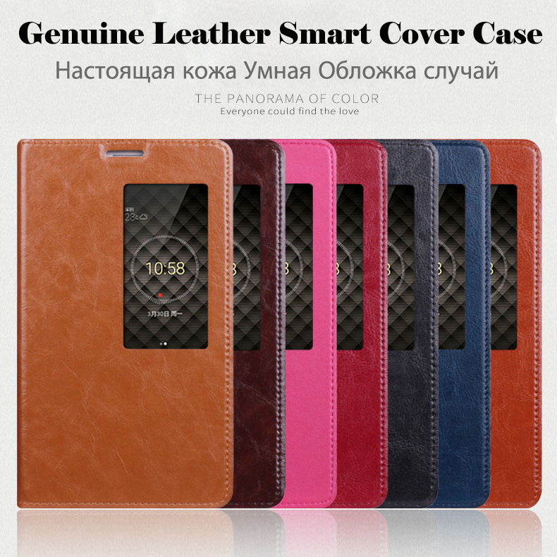 bilder für Intelligente Fenster Abdeckung Für Huawei Ehre X2 & Media Pad X2 High qualität Aus Echtem Leder Fall Luxus Standfuß Handytasche + Freies Geschenk