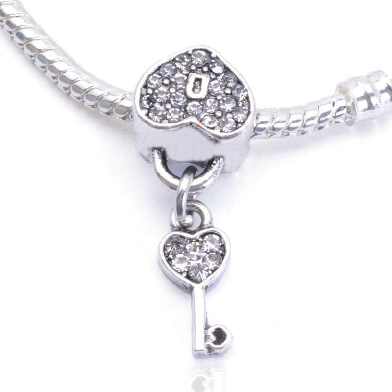 Heart lock love crown snow flower crystal charm pendants diy size 10mm13mm jpp148 1 aloadofball Gallery