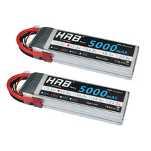 2pcs HRB 5000mAh 3S 11.1V Lipo Battery RC Parts 50C Deans XT60 EC5 Female XT90 Connectors Airplane Quadcopter Bait Boat Cars Toy(China)