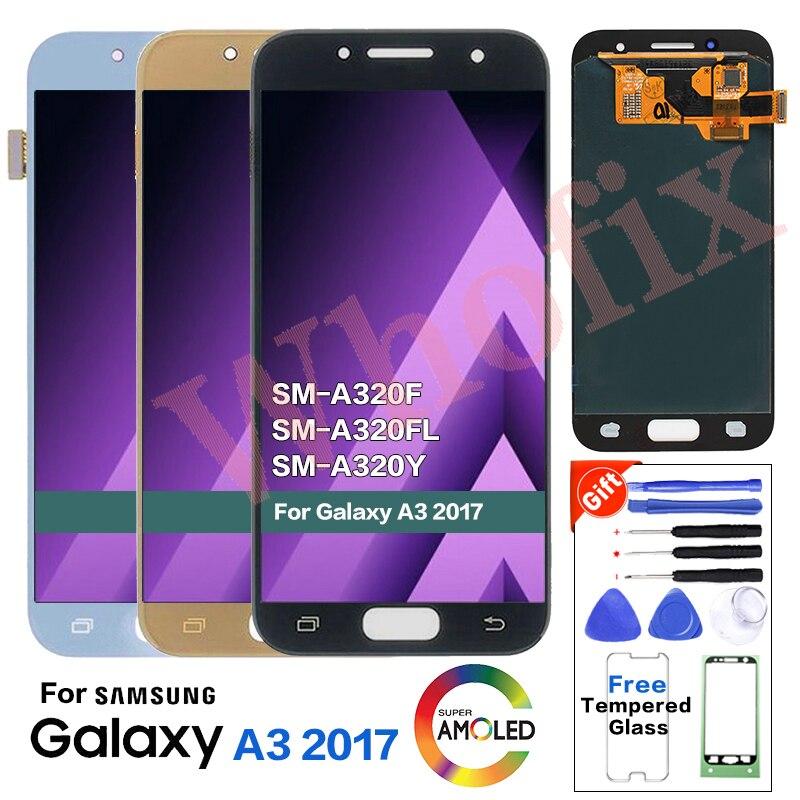 Original pour SAMSUNG A3 2017 A320 SM-A320F remplacement d'écran d'affichage à cristaux liquides pour Samsung Galaxy SM-A320FL A320Y module d'affichage à cristaux liquides