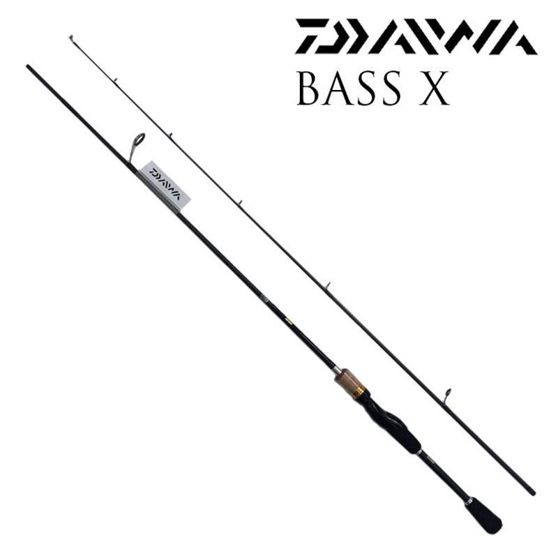 Lure Carbon Rod Daiwa Bass X 662ML Spinning Fishing Rod Bait Casting Fishing Pole 2 Section 1.98m seaknight trulinoya 2 1m 145g two segments plug bait carbon casting hard spinning lure fishing rod