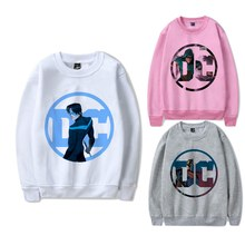 Printing Justice League Cool DC Anime Logo O-NECK Cartoon Pattern Cool Design Cotton Sweatshirts with Leisure Fashion Jumper(China)