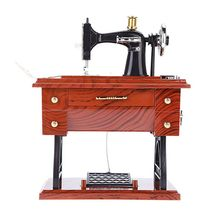 Mini Sewing Machine Music Box Sartorius Clockwork Style Birthday Gift Musical Toy
