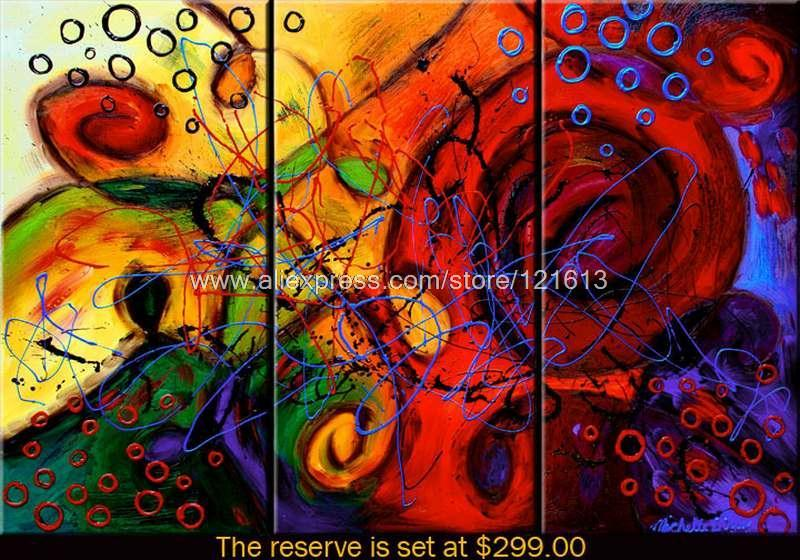 Entwined Passions Oil Painting On Canvas Abstract Nature 3
