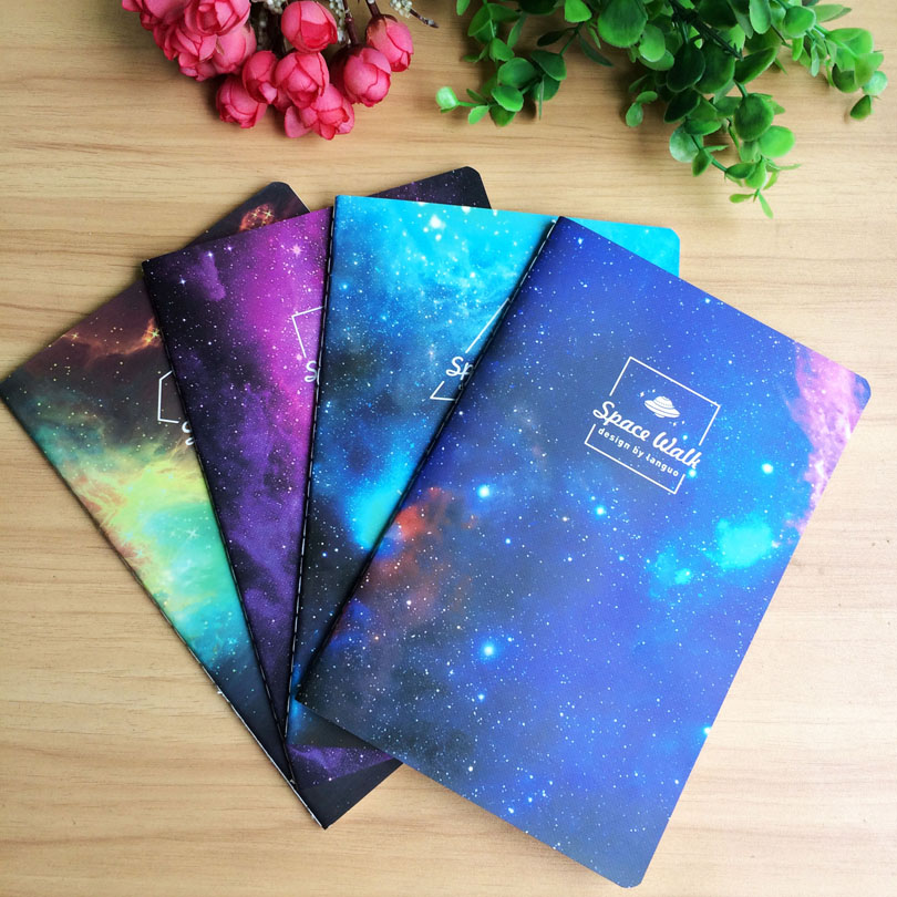 New Vintage Romatic Starry sky series Kraft paper notebook/journal Diary/Notepad/Planner  papelaria material escolar GT004