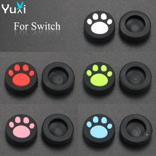 YuXi 2Pcs Cat Paw Claw Silicone Analog Controller Stick Grips Cap For Nintendo Switch NS Controller Joy-Con цена и фото