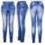 Yomsong 2016 Impresión Faux Denim Jeans Leggings Para Las Mujeres Estirada Pantalones de Entrenamiento Desgaste de la Marca de Impresión Legging RL241