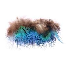 Best Selling Boutique 30 Pieces Of Peacock Feathers Natural 3-6CM Wedding Dress DIY Fluffy Valentines Day Decoration