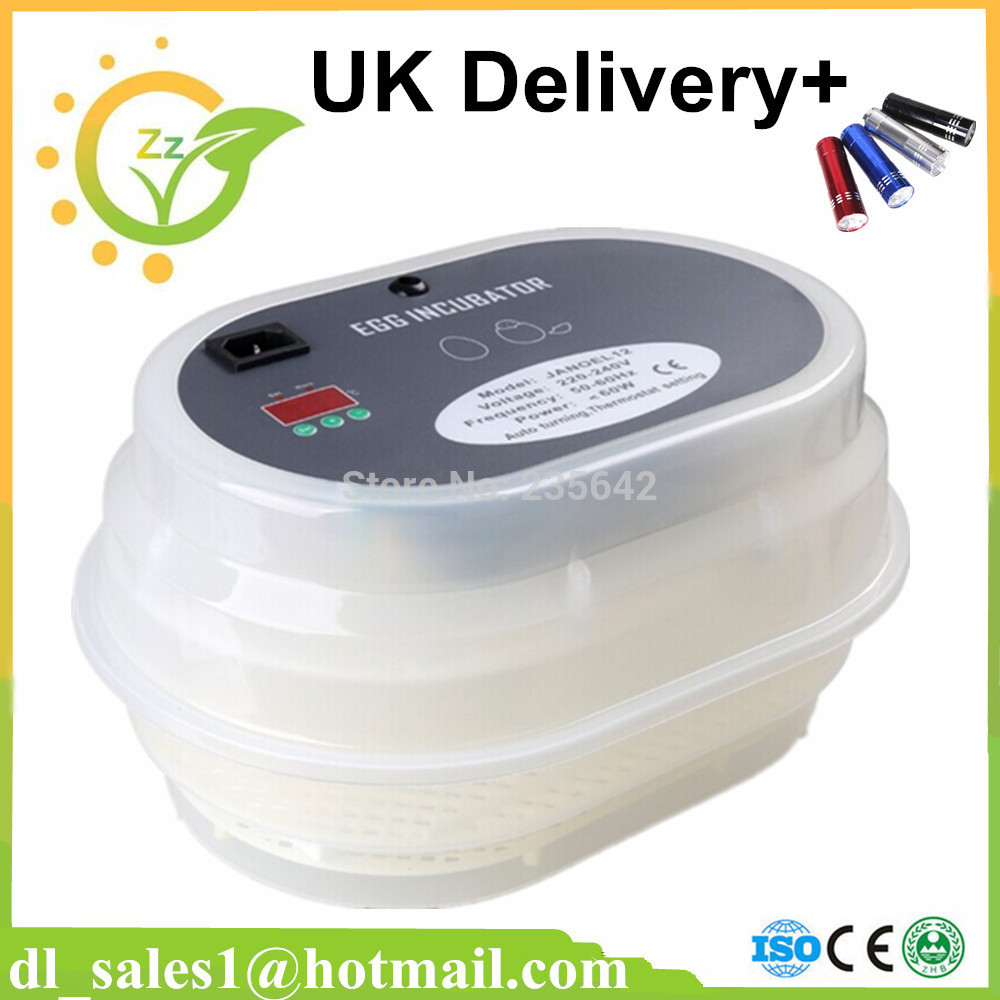 UK Stock New model 12 chicken eggs incubator full automatic mini egg incubator new 39 eggs full automatic incubator