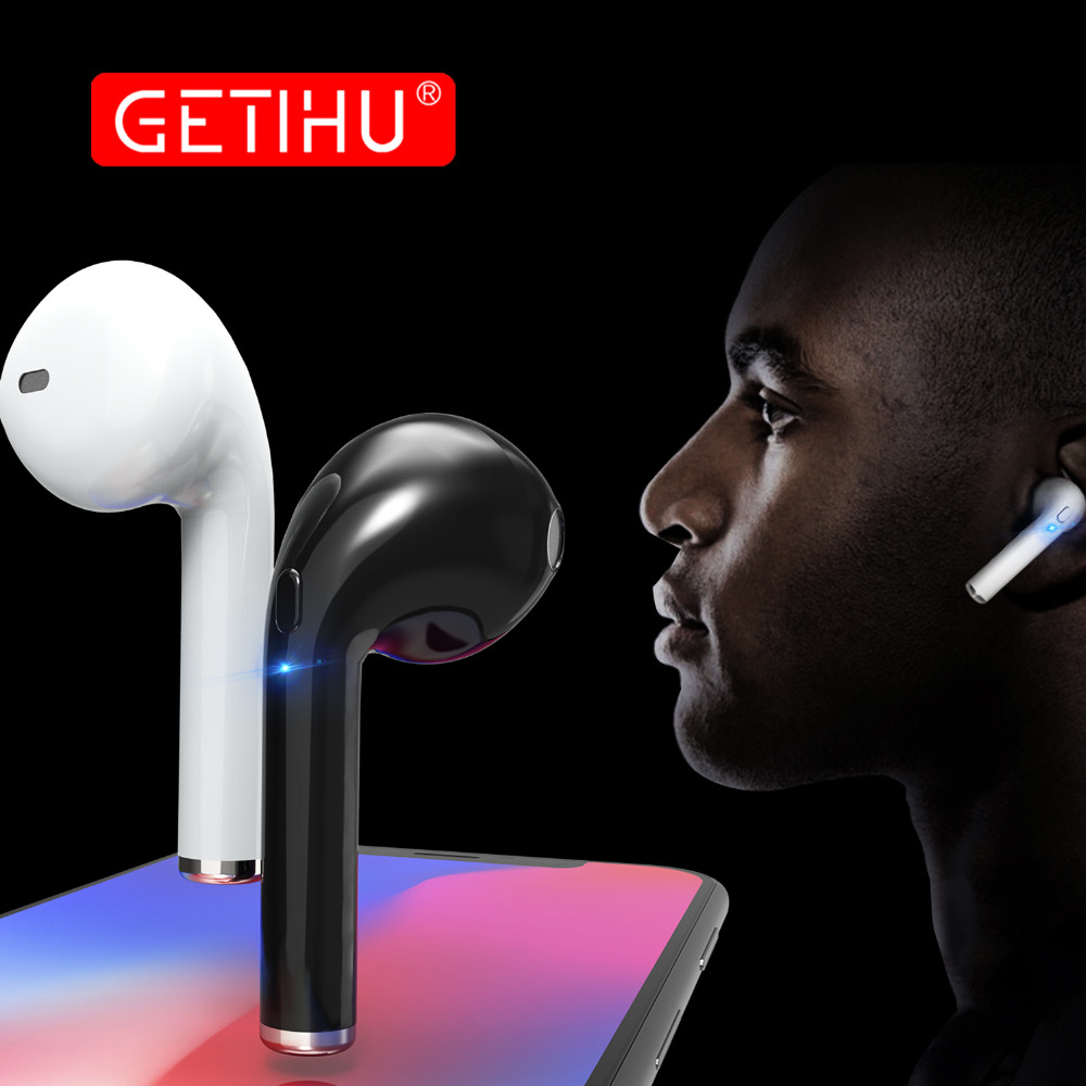 GETIHU Bluetooth Earphone Headphones Phone Sport Headset in Ear Buds Wireless Mini Earphones Earpiece For iPhone Samsung stereo wireless headphones bluetooth earphone suitable for iphone samsung bluetooth headset 4 2 tws mini microphone