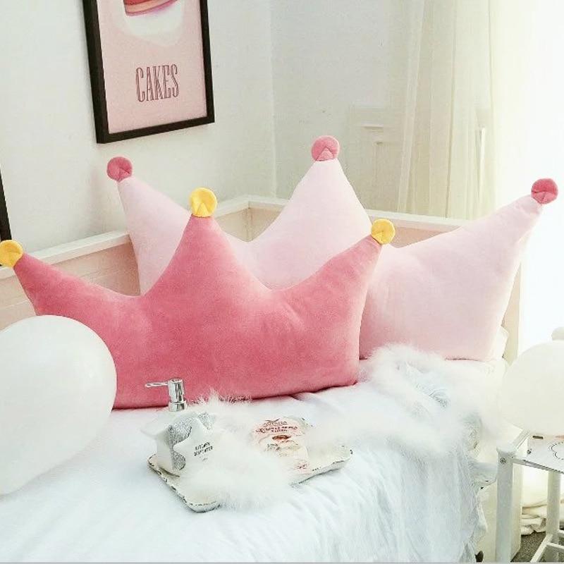 Kawaii pink Korean style Princess Princess wind bed cushions backrest washable children's room decoration pillow