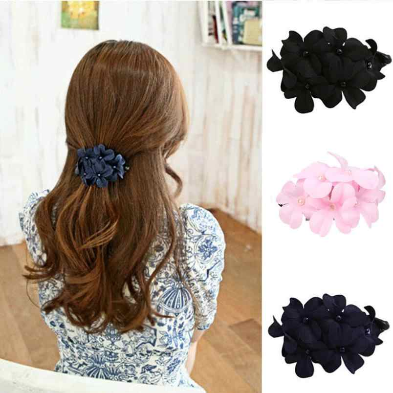 GEMIXI Chic Women Girl Handmade Flower Banana Barrette Hair Clip Hair Pin Claw 4.25