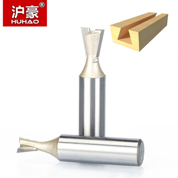 цена на HUHAO 1pcs 1/2 1/4 Shank Wood Cutter Dovetail Bits 2 flute Router Bits for wood Tungsten Carbide Engraving Tool Milling Cutter