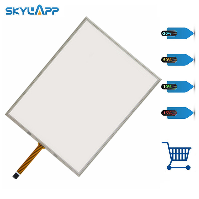 Skylarpu 15 inch 5 wire Resistive Touch Screen 322mm*247mm for cash register queuing machine, Industrial equipment Digitizer
