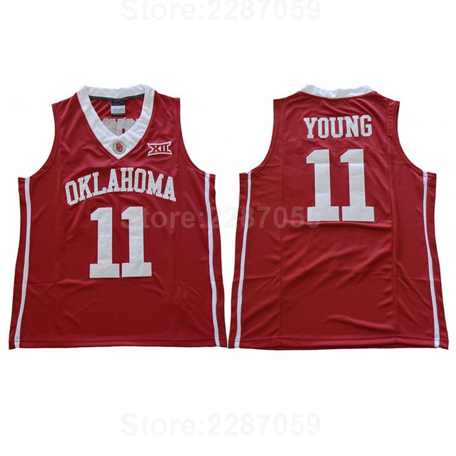 28bde853ba44 Ediwallen College 11 Trae Young Jersey Men University Basketball Oklahoma Sooners  Jerseys Red White All Stitched Free Shipping