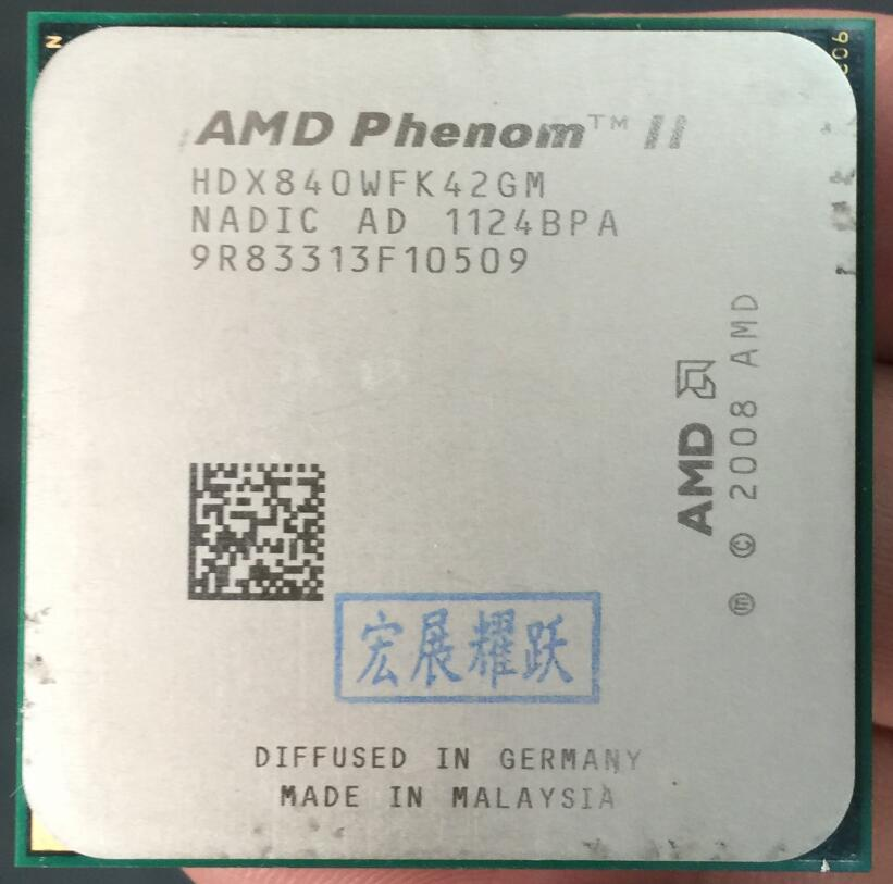 AMD Phenom II X4 840 - HDX840WFK42GM  Quad-Core AM3 938 CPU 100% Working Properly Desktop Processor