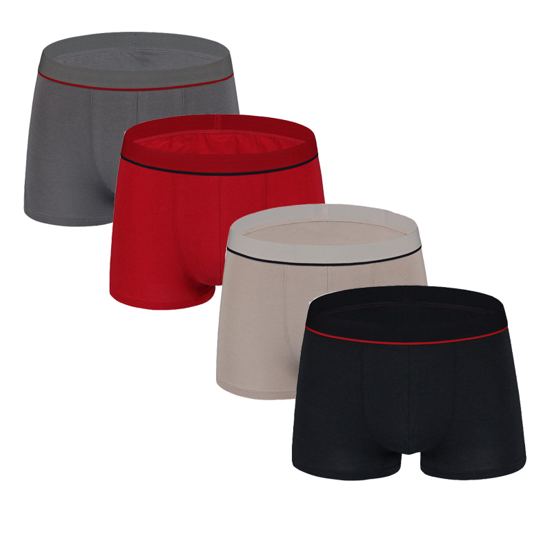 4pc/lot Mens Underwear Breathable <font><b>Boxers</b></font> Modal <font><b>Boxer</b></font> Underpants Men's <font><b>Boxers</b></font> Shorty <font><b>Homme</b></font> Calzoncillos Boxershorts M L XL XXL image