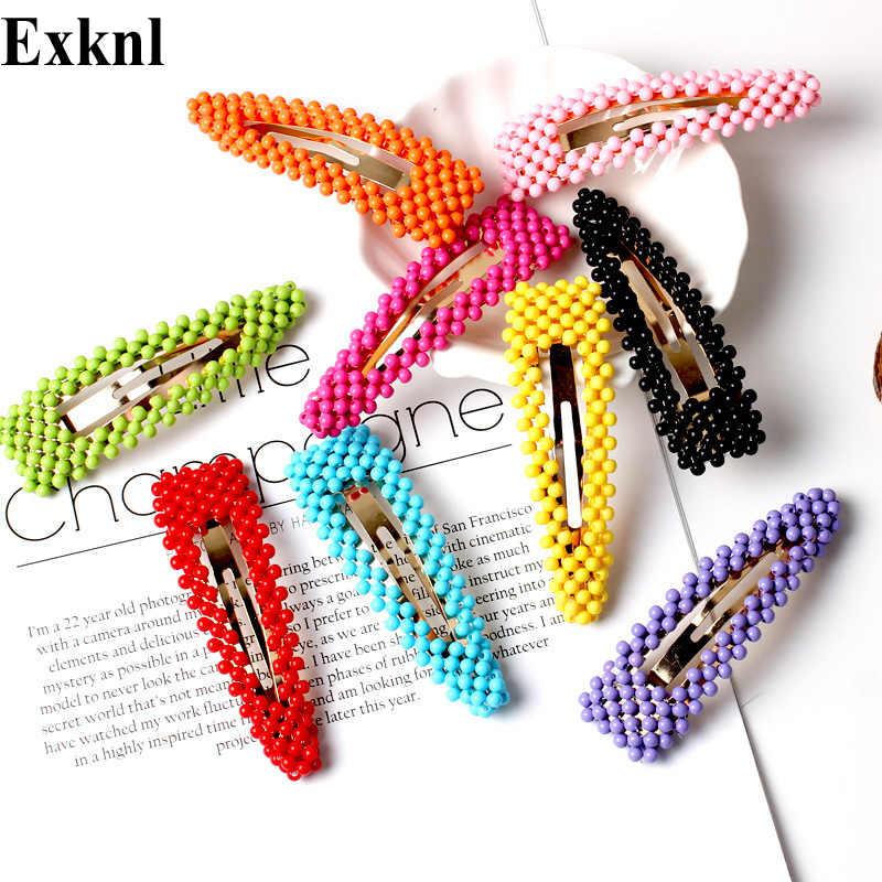 Exknl корейский цветок заколки для волос винтажные длинные заколки для волос декоративные бусины Свадебные металлические аксессуары для волос заколка для волос 2019